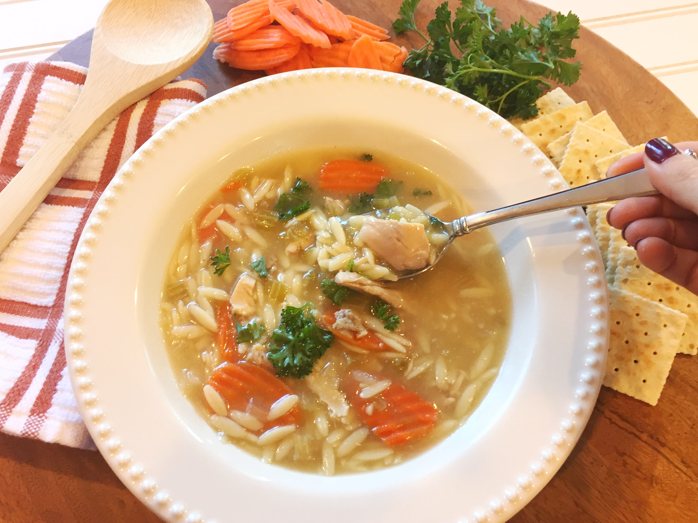 Chicken Orzo Noodle Soup